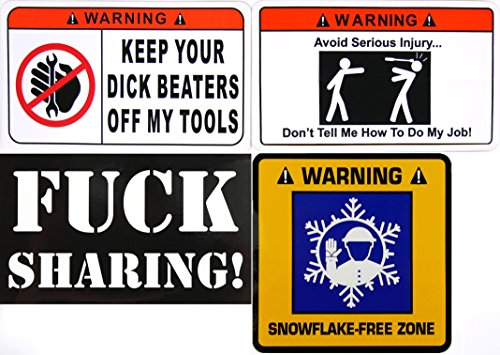 FOUR (4) STICKER Pack (1) Keep Your Dick - Job Boxes