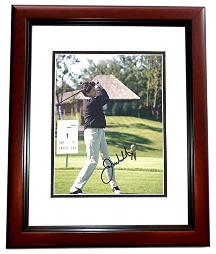 Julie Inkster Signed - Autographed Golf 8x10 inch Photo MAHOGANY CUSTOM FRAME - Guaranteed to pass PSA or JSA - Julie Inkster Memorabilia