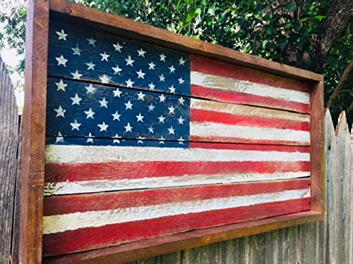 (USA Wooden Flag, Wooden American Flag Wall Decor, Wood American Flag, Wood Wall Art, Rustic Wood American Flag, USA Wood)