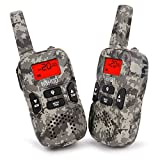 Walkie talkies for kids, UOKOO Kids Walkie Talkies 22 Channel FRS/GMRS Two Way Radio Up to 3KM UHF Handheld Walkie Talkies, Toys for 5-year Old Boys and Girls(Camo)
