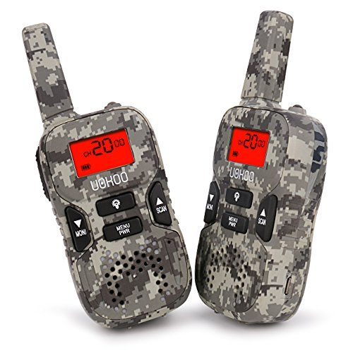 Walkie talkies for kids, UOKOO Kids Walkie Talkies 22 Channel FRS/GMRS Two Way Radio Up to 3KM UHF Handheld Walkie Talkies, Toys for 5-year Old Boys and Girls(Camo) by UOKOO