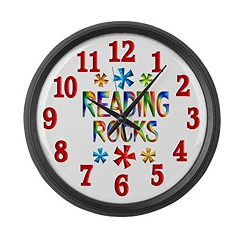 CafePress – Reading – Large 17″ Round Wall Clock, Unique Decorative Clock Review