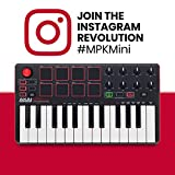 Akai Professional MPK Mini MKII – 25 Key USB MIDI Keyboard Controller With 8 Drum Pads, 8 Assignable Q-Link Knobs and Pro Software Suite Included