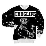 CHIC Women Men Tupac Shakur 2Pac Sweatshirt 3D Hoodies Clothing T Shirt (S)