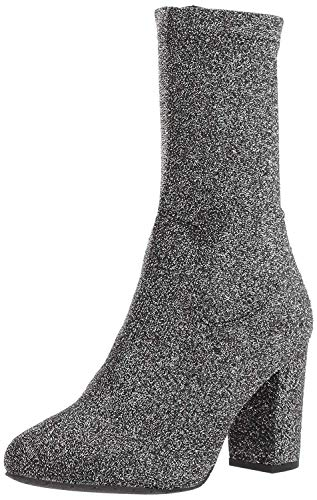(Kenneth Cole New York Women's Alyssa Stretch Shaft Boot with Heel Ankle, Pewter, 7.5 Medium)