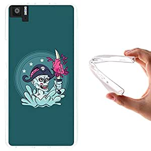 WoowCase - Funda Gel Flexible { bq Aquaris M5 } Capitan Pirata Carcasa Case Silicona TPU Suave