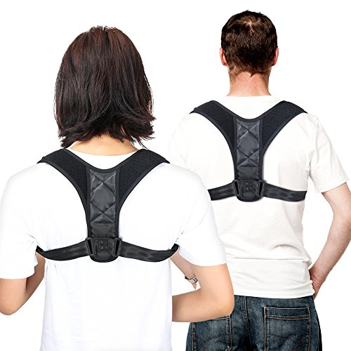 Posture Corrector for Men and Women,Delicacy Adjustable Upper Back Brace Clavicle Support for Thoracic Kyphosis,Shoulder and Neck Pain Relief by Delicacy