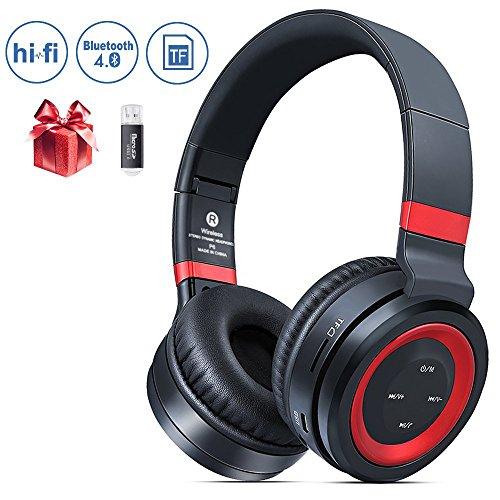 Bluetooth Headphones Over Ear, Krbp Noise Cancelling Bluetooth Headphones Wireless Stereo Headset Bluetooth Headphones Over Ear with Mic Wired and Wireless headphones for Cell Phone/ TV/ PC