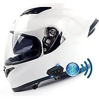 Bluetooth Geïntegreerde Full Face Motorhelm ECE/DOT Goedgekeurd Volwassen Full Face Motorhelmen Dual Zonneklep…