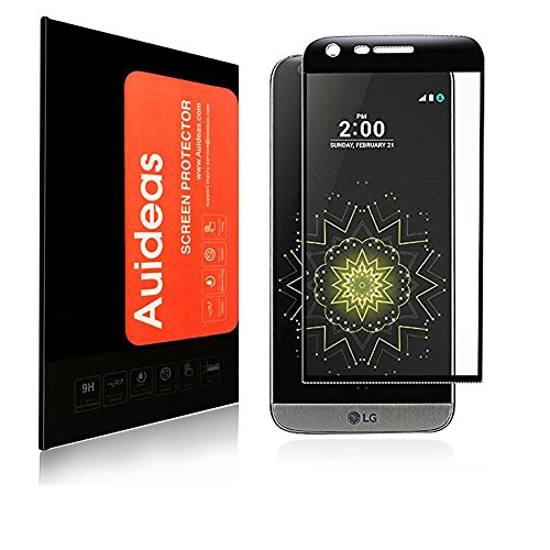 LG G5 Screen Protector, Auideas Tempered Glass Full coverage [Case Friendly][3D Curved Protection]HD Clear Tempered Glass Screen protector For LG G5 black