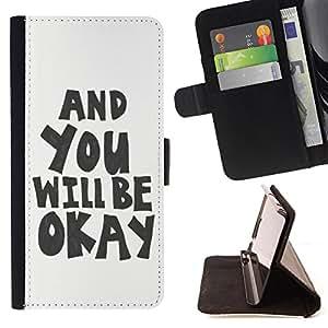 Dragon Case - FOR Samsung Galaxy S6 EDGE - you will be okey - Caja de la carpeta del caso en folio de cuero del tir¨®n de la cubierta protectora Shell