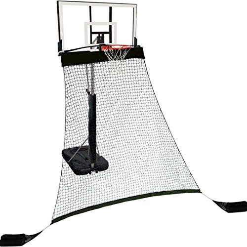 Hathaway Rebounder Basketball Return System for Shooting Practice with Heavy Duty Polyester Net Black, 120