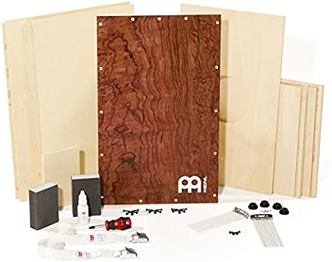 Meinl Percussion DMYO-CAJ-BU Deluxe Make Your Own Cajon with Complete Assembly Kit, Bubinga Burl - Bubinga Body