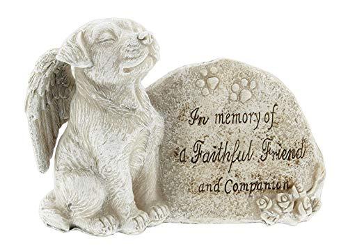 Distinctive Designs Pet Memorial Figurine Wrapped in Angel Wing (Faithful Friend) (Figurines Memorial)