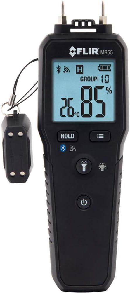 FLIR MR55 - Pin Moisture Meter with Bluetooth for Instant Data Sharing via the FLIR Tools Mobile app.