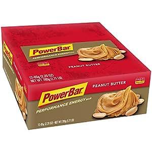 PowerBar Performance Energy Bar, Peanut Butter, 2.29 Ounce Bars (Pack of 12)