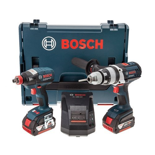 Price comparison product image Bosch Professional GSB 18VE-2LI+GDX 18V-EC (2 x 4.0 L-BOXX) by Bosch Professional