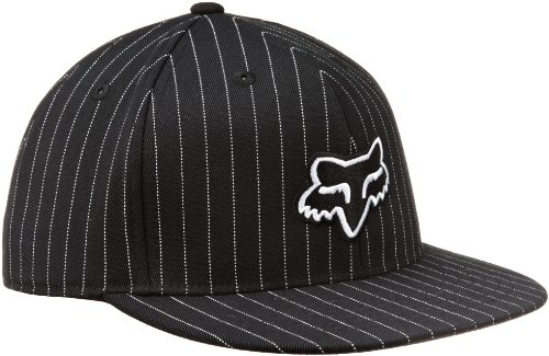 Fox Men's The Steez Fitted Hat, Black Pinstripe, Small/Me...