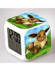 HHKX100822 Pokemon Niños Pequeño Despertador Pokemon Colorido Reloj Despertador Creativo