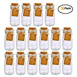 Brajttt 30Pcs Glass Favor Jar with Cork Lids,Multifunctional,Great Decoration(100 ML,3.4OZ)