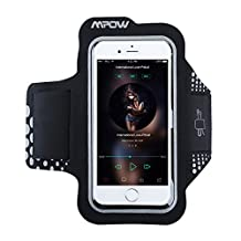 iPhone 6/6S Armband,Mpow Sweatproof Waterproof Running Armband Case for iPhone6s/6, Samsung Galaxy S7, S6, Sports Armband for Running, Jogging,Bicycling