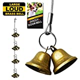 WATFOON Dog Doorbell 8 Count Premium Quality Training Potty Extra Loud Bronze Bells,Adjustable Door Bells For Potty Training Your Puppy The Easy Way (Reflective Silver)