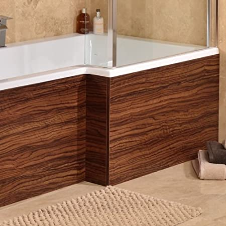 1700 Walnut L Shaped Shower Bath Panel: Amazon.co.uk: DIY & Tools