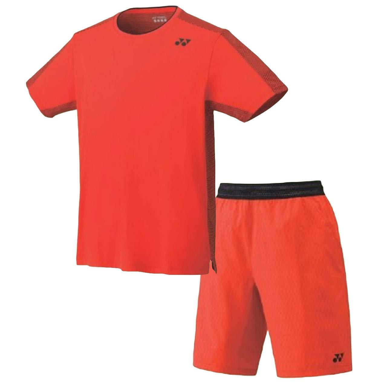 ヨネックス(YONEX) ゲームシャツ(フィットスタイル)&ハーフパンツ 上下セット(ファイヤーレッド/ファイヤーレッド) 10278-569-15072-569 M B07S2V4W5C ファイヤーレッド M