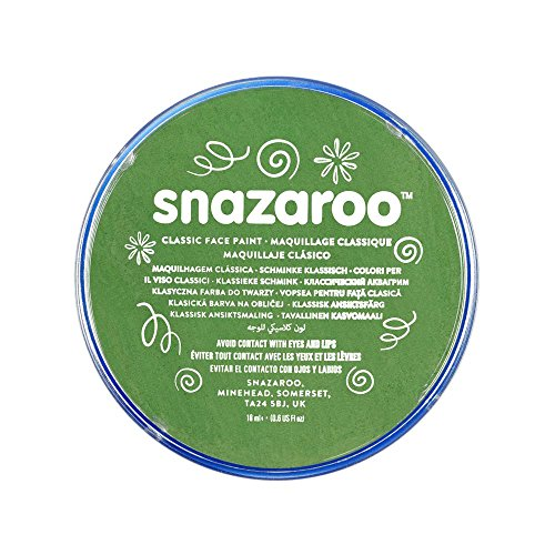 Snazaroo 1118477 Classic Face Paint, 18ml, Grass Green