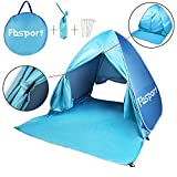 Fb-Sport Portable Light-Weight Beach Tent, Automatic Pop-up Sun Shelter Umbrella, Outdoor Cabana Beach Shade with UPF 50 Plus Sun Protection, Blue