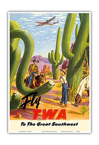 Pacifica Island Art To The Great Southwest   Fly Twa Trans World Airlines   Vintage Airline Travel Poster By Frank Soltesz C 1950S   Master Art Print   13In X 19In