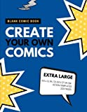 Blank Comic Book: Create Your Own Comics: Extra Large, 220 Pages, Action Templates (Blank Comic Book for Kids) (Volume 9)