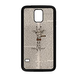 Danny Store Giraffe Protective TPU Rubber Back Fits Cover Case for Samsung Galaxy S5 by supermalls