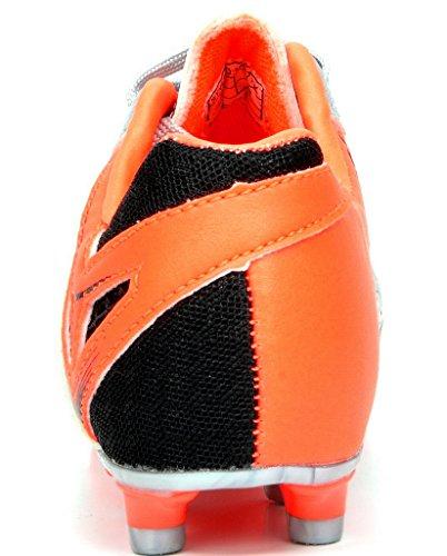 DREAM PAIRS Herren 160471-M Stollen Fußball Fußballschuhe Sivler / Orange / Schwarz