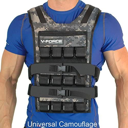 60 Lb. V-Force Weight Vest – Made in USA