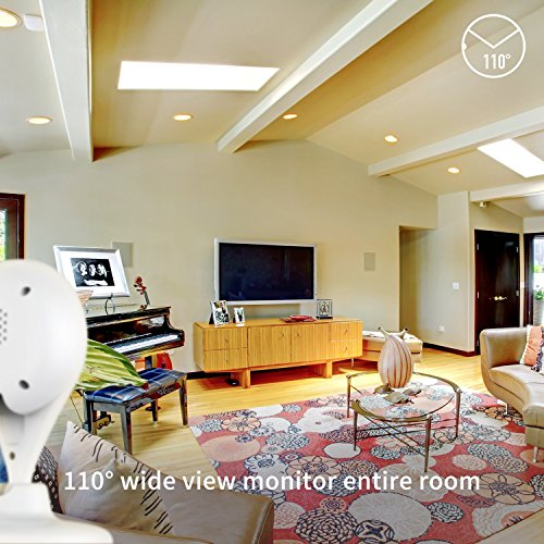 360 Home Security Camera Wireless Surveillance IP System with Two-Way Audio, Night Vision, Motion Detection Alert, Remote Monitor Smart Camera for Baby and Pet with 720P by 360 (Image #2)