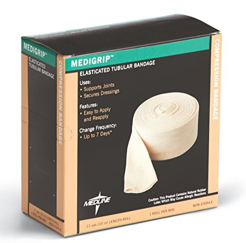 Medline MSC9506YDH Medigrip Tubular Bandages, 1 yd, Size G