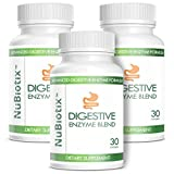 NuBiotix - 3 Bottle Combo - Advanced Digestive Enzymes Blend Dietary Health Supplement For Men & Women - 30 capsules in each bottle