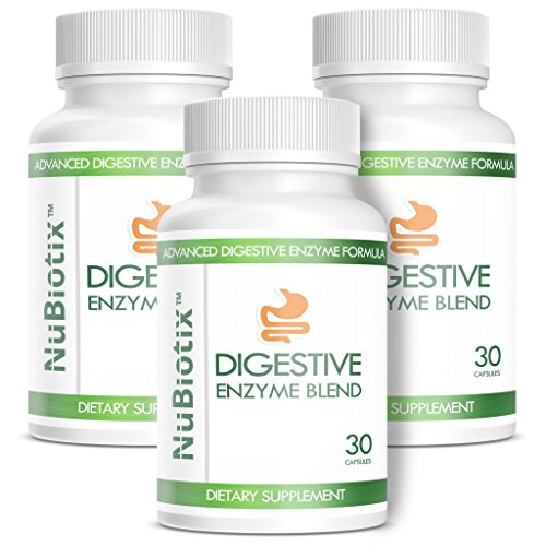 NuBiotix - 3 Bottle Combo - Advanced Digestive Enzymes Blend Dietary Health Supplement For Men & Women - 30 capsules in each bottle by NuBiotix