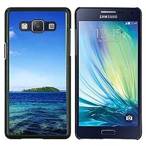 TECHCASE---Cubierta de la caja de protección para la piel dura ** Samsung Galaxy A5 ( A5000 ) 2014 Version ** --Naturaleza Castillo púrpura de la flor