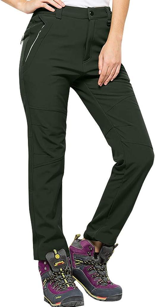 Minghe Women/'s Fleece Lined Ski Insulated Pants Warm Snow Pants Grey Small