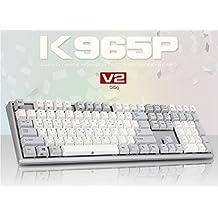 ABKO K965P V2 55g Capacitance Non-Contact Switch Keyboard Nkey-Rollover, Stabilizer, Waterproof, Cherry MX Profile, PBT KeyCap (English/Korean Layout)