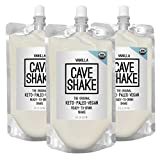 CAVE SHAKE Vanilla: The Original Keto, Paleo, Vegan Ready-to-Drink Shakes, 3 Pack
