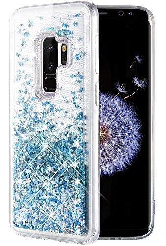 Caka Galaxy S9 Plus Case, Galaxy S9 Plus Glitter Case [Liquid Series] Luxury Fashion Bling Flowing Liquid Floating Sparkle Glitter TPU Bumper Case for Samsung Galaxy S9 Plus - (Blue)