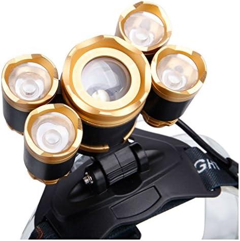 COB LED Kopflampe Stirnlampe Kopfleuchte Taschenlampe mit 90 Grad Drehbarer Kopf
