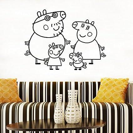 Amazon Com Peppa Pig Family Wall Art Kid S Vinyl Poster Baby S Room