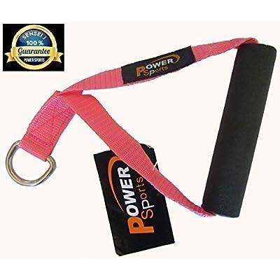 rose 1-D énergie Sports Stirrup Handle pour Multi-gym Câble CROSSOVER Fixation multifonctionnel Gym Équipement, resistant bandes, SUSPENSION CORPS Baskets, triceps / - Entraînement Sure-Grip femmes