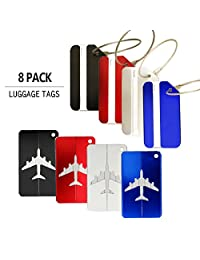 Luggage Tags, Bag Tag Travel ID Labels Tag For Baggage Suitcases Bags,8 Pack By Emango