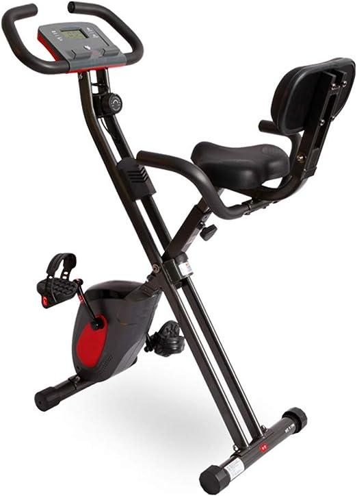 LLMLCF Bicicleta Ejercicio Plegable, Bicicleta Estacionaria para ...