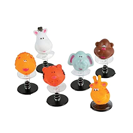 amazon com 12 zoo animal pop up toys toys games